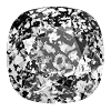 Swarovski 4470 Cushion Cut Square Fancy Stone 10mm Crystal Black Patina