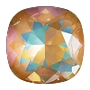 Swarovski 4470 Cushion Cut Square Fancy Stone 10mm Crystal Ochre DeLite