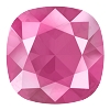 Swarovski 4470 Cushion Cut Square Fancy Stone 10mm Crystal Peony Pink