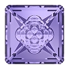 Swarovski 4481 Vision Square Fancy Stone 12mm Tanzanite (72 Pieces)