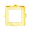 Swarovski 4481/S Vision Square Fancy Stone Setting 16mm Gold Plated 4 Holes (48 Pieces)