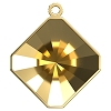 Swarovski 4499/J Kaleidoscope Square Fancy Stone Glue In Pendant Setting 10mm Gold 1 Top Ring (48 Pieces)
