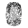 Swarovski 4568 Cushion Cut Rectangle Fancy Stone 14x10mm Crystal Black Patina (72 Pieces)