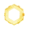 Swarovski 4681/S Vision Hexagon Fancy Stone Setting 18mm Unplated No Holes (48 Pieces)