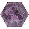 Swarovski 4699 Kaleidoscope Hexagon Fancy Stone 14x16mm Amethyst (24 Pieces)