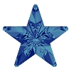 Swarovski 4745 Rivoli Star Fancy Stone 10mm Crystal Bermuda Blue (144 Pieces)