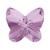 Swarovski 4748 Rivoli Butterfly Fancy Stone 10mm Light Amethyst (288 Pieces)