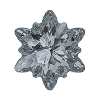 Swarovski 4753 Edelweiss Fancy Stone 18mm Crystal Silver Night  (24 Pieces)