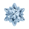 Swarovski 4753G Edelweiss Fancy Stone 18mm Crystal Blue Shade Partly Frosted (24 Pieces)