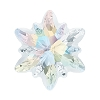 Swarovski 4753G Edelweiss Fancy Stone 14mm Crystal AB Partly Frosted (36 Pieces)
