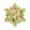 Swarovski 4753G Edelweiss Fancy Stone 18mm Crystal Luminous Green Partly Frosted (24 Pieces)
