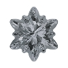 Swarovski 4753G Edelweiss Fancy Stone 18mm Crystal Silver Night Partly Frosted (24 Pieces)