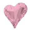 Swarovski 4809 Sweet Heart Fancy Stone 13x12mm Crystal Antique Pink (72 Pieces)