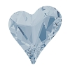 Swarovski 4809 Sweet Heart Fancy Stone 13x12mm Crystal Blue Shade (72 Pieces)