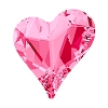 Swarovski 4809 Sweet Heart Fancy Stone 13x12mm Rose (72 Pieces)
