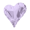 Swarovski 4809 Sweet Heart Fancy Stone 27x25mm Violet (16 Pieces)