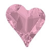 Swarovski 4810 Sweet Heart Fancy Stone 13x12mm Crystal Antique Pink (72 Pieces)