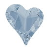Swarovski 4810 Sweet Heart Fancy Stone 13x12mm Crystal Blue Shade (72 Pieces)