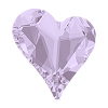 Swarovski 4810 Sweet Heart Fancy Stone 13x12mm Violet (72 Pieces)