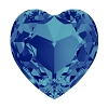 Swarovski 4827 Heart Fancy Stone 28mm Crystal Bermuda Blue (24 Pieces)