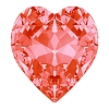 Swarovski 4831 Antique Heart Fancy Stone 8.8x8mm Padparadscha (144 Pieces)