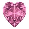 Swarovski 4831 Antique Heart Fancy Stone 5.5x5mm Rose (360 Pieces)