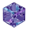 Swarovski 4841 Cube Fancy Stone 4mm Crystal Heliotrope (288 Pieces)