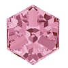 Swarovski 4841 Cube Fancy Stone 6mm Light Rose Cal (144 Pieces)