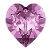 Swarovski 4884 Xilion Heart Fancy Stone 11x10mm Light Amethyst (144 Pieces)