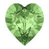 Swarovski 4884 Xilion Heart Fancy Stone 11x10mm Peridot (144 Pieces)