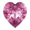 Swarovski 4884 Xilion Heart Fancy Stone 11x10mm Rose (144 Pieces)