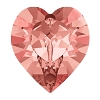 Swarovski 4884 Xilion Heart Fancy Stone 11x10mm Rose Peach (144 Pieces)