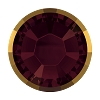 Swarovski 2038/I Hot Fix Rimmed Flatback Rhinestones SS10 Burgundy with Dorado Rim (1,440 Pieces)