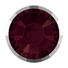 Swarovski 2038/I Hot Fix Rimmed Flatback Rhinestones SS10 Burgundy with Light Chrome Rim (1,440 Pieces)