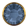 Swarovski 2038/I Hot Fix Rimmed Flatback Rhinestones SS10 Denim Blue with Dorado Rim (1,440 Pieces)