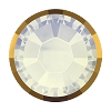 Swarovski 2038/I Hot Fix Rimmed Flatback Rhinestones SS10 White Opal with Dorado Rim (1,440 Pieces)