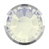 Swarovski 2038/I Hot Fix Rimmed Flatback Rhinestones SS10 White Opal with Light Chrome Rim (1,440 Pieces)
