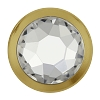 Swarovski 2078/H Hot Fix Framed Flatback Rhinestones SS20 Crystal with Gold Ring (1,440 Pieces)