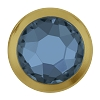 Swarovski 2078/H Hot Fix Framed Flatback Rhinestones SS16 Denim Blue with Gold Ring (1,440 Pieces)