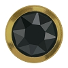 Swarovski 2078/H Hot Fix Framed Flatback Rhinestones SS16 Jet Hematite with Gold Ring (1,440 Pieces)