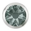 Swarovski 2078/H Hot Fix Framed Flatback Rhinestones SS16 Black Diamond with Silver Ring (1,440 Pieces)