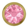 Swarovski 2078/H Hot Fix Framed Flatback Rhinestones SS20 Light Rose with Gold Ring (1,440 Pieces)