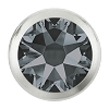 Swarovski 2078/H Hot Fix Framed Flatback Rhinestones SS16 Crystal Silver Night with Silver Ring (1,440 Pieces)