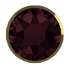 Swarovski 2078/I Hot Fix Rimmed Flatback Rhinestones SS16 Burgundy with Dorado Rim (1,440 Pieces)
