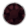 Swarovski 2078/I Hot Fix Rimmed Flatback Rhinestones SS34 Burgundy with Light Chrome Rim (144 Pieces)