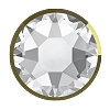 Swarovski 2078/I Hot Fix Rimmed Flatback Rhinestones SS20 Crystal with Dorado Rim (1,440 Pieces)