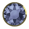 Swarovski 2078/I Hot Fix Rimmed Flatback Rhinestones SS34 Denim Blue with Dorado Rim (144 Pieces)