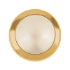 Swarovski 2080/H Hot Fix Framed Cabochon Hot Fix Flatback Rhinestones SS34 Cream Pearl with Gold Frame (144 Pieces)