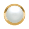 Swarovski 2080/H Hot Fix Framed Cabochon Hot Fix Flatback Rhinestones SS34 White Pearl with Gold Frame (144 Pieces)