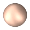 Swarovski 2081/2 Hot Fix Round Cabochon Pearl SS 10 Rose Gold (1,440 Pieces)